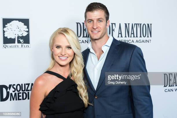 Conservative Political commentator Tomi Lahren and Brandon Fricke attend the Death Of A Nation Premiere at Regal Cinemas LA Live on July 31 2018 in...