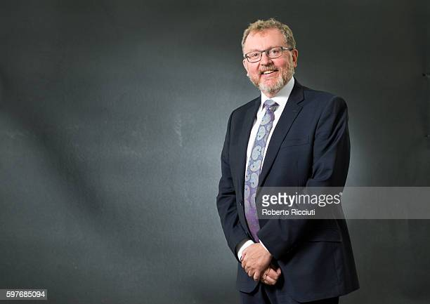 Conservative politician and Secretary of State for Scotland David Mundell attends a photocall at Edinburgh International Book Festival at Charlotte...