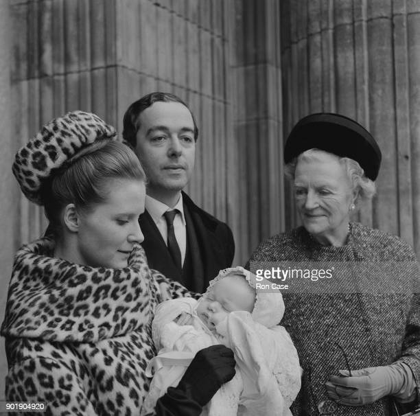 Conservative politician Piers Dixon and his wife Edwina at the christening of their son Hugo at St Paul's Cathedral London 24th January 1964 On the...