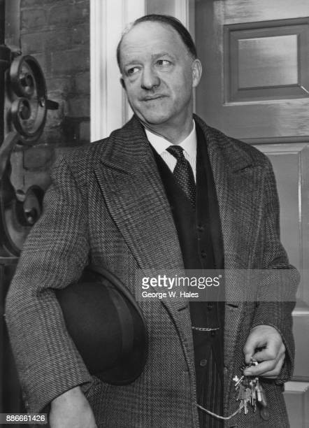 Conservative politician Rab Butler the Lord Privy Seal returns to his home in Smith Square Westminster London after a morning at the office 10th...