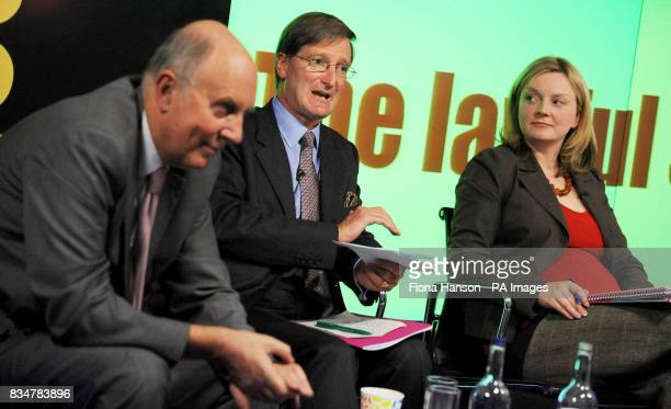 Conservative Shadow Home Secretary Dominic Grieve speaks at the launch Reform's Lawful Society report on the nature of crime and the incentives in...