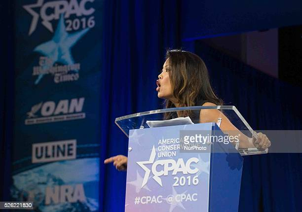 Conservative Speaker Michelle Malkin Speaks calling for a more conservative Republican Party during the annual Conservative Political Action...