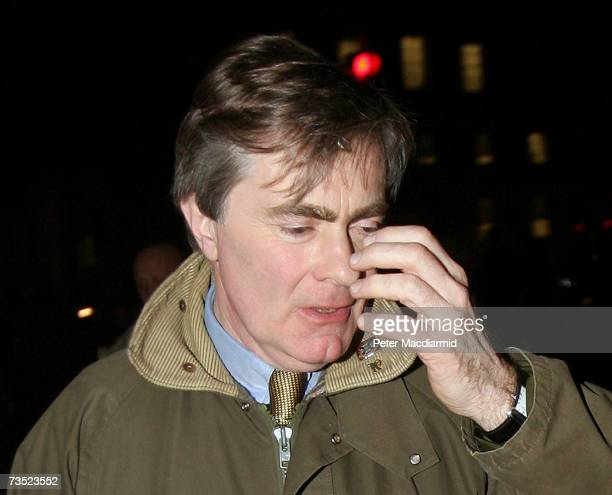 Conservative spokesman on homeland security Patrick Mercer leaves his parliamentary office on March 8 2007 in London England Mercer was removed from...