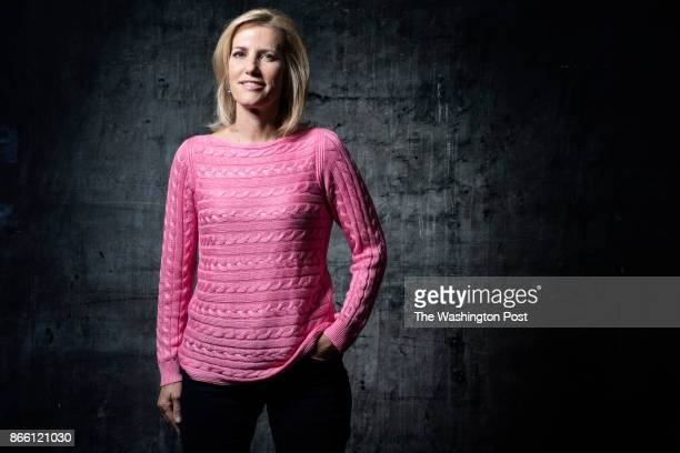 Conservative talk radio host Laura Ingraham is getting her first prime time news show on FOX She is photographed in McLean Virginia on October 14 2017