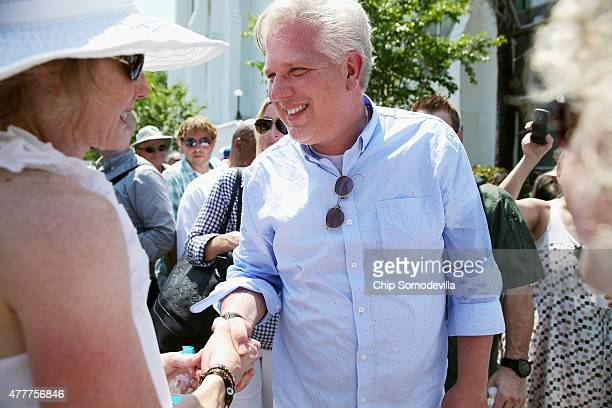 Conservative television and radio personality Glenn Beck greets supporters outside the historic Emanuel African Methodist Episcopal Church where nine...