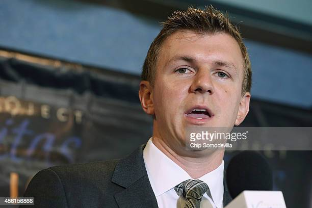 Conservative undercover journalist James O'Keefe holds a news conference at the National Press Club September 1, 2015 in Washington, DC. O'Keefe...