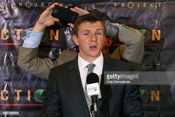 Conservative undercover journalist James O'Keefe is photographed by Project Veritas Action Senior Communications Strategist Stephen Gordon during a...