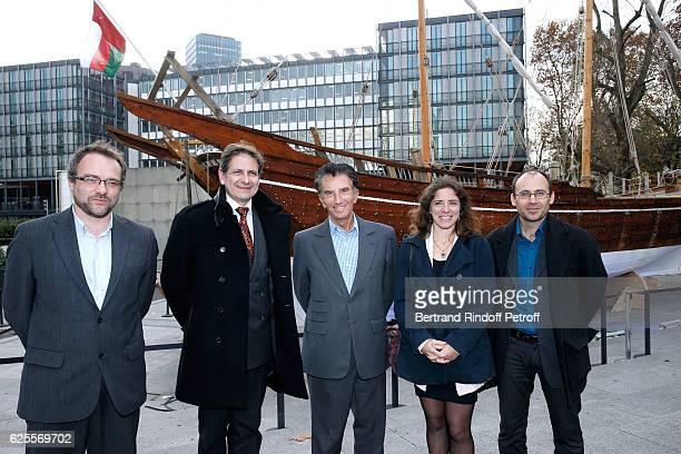 Conservator of the Port-Museum of Douarnenez, Kelig-Yann Cotto, Senator Mayor of Douarnenez, Paul Philippe, President of the 'Institut du Monde...