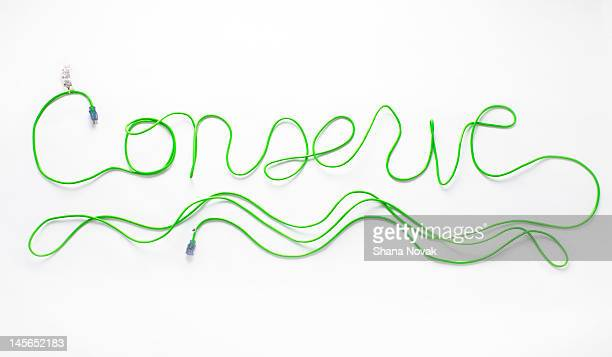 Conserve Spelled in Extension Cord