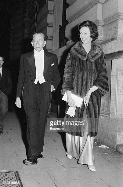 Considered one of the richest men of the world Paul Getty at the side of Italian Princess Giovanna Odescalchi is shown here arriving at a party of...