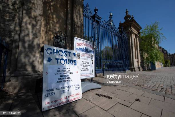 Consistent with most sectors the tourist industry has also shut down since the coronavirus lockdown on April 19 2020 in Oxford England