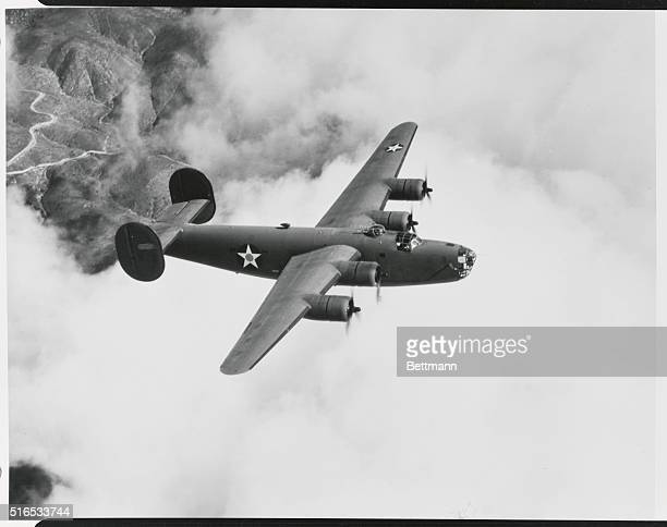 Consolidatedbuilt giant fourmotored bomber B24 Liberator These planes extremely fast are being constructed in mass production by the Consolidated...