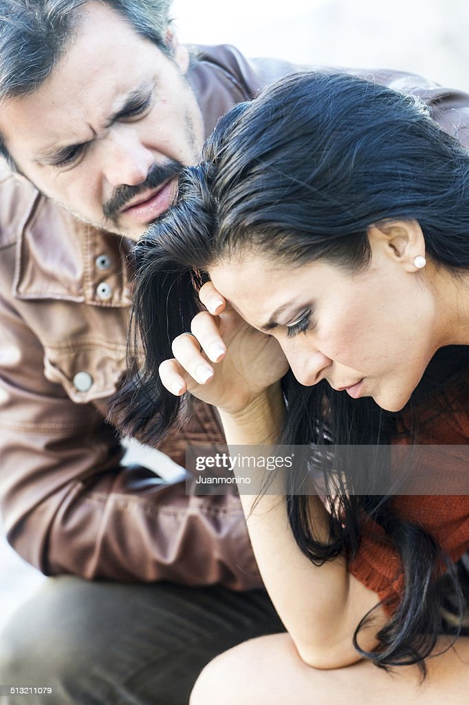 Consoling friend : Stock Photo