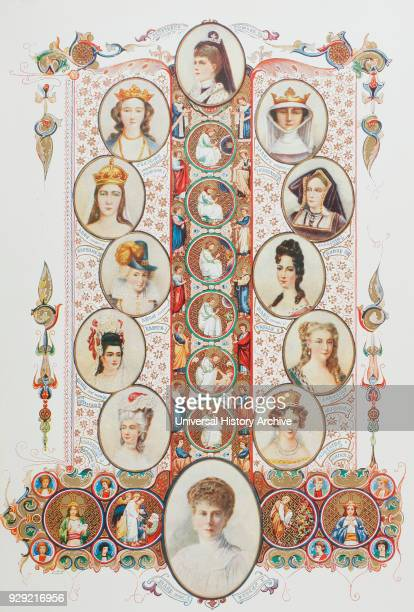 Consorts of British Sovereigns From top clockwise Alexandra of Denmark consort of Edward VII Isabella of France consort of Edward II Catherine of...