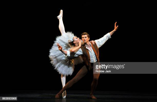 Constance Devernay as Fairy and Andrew Peasgood as Young Man in Scottish Ballet's production of Kenneth MacMillan's Le Baiser de la Fee at The Royal...