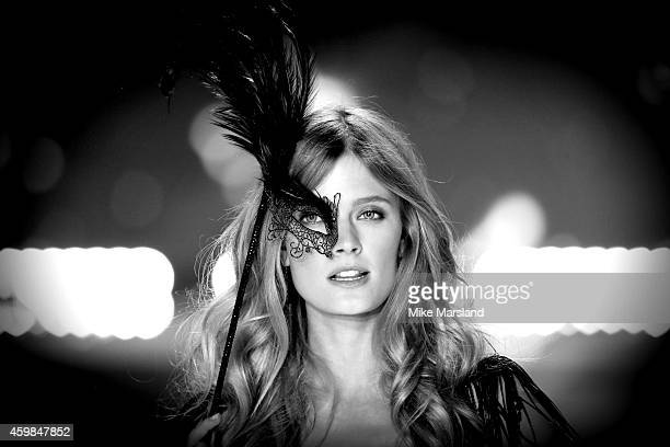 Constance Jablonsk walks the runway at the annual Victoria's Secret fashion show at Earls Court on December 2 2014 in London England
