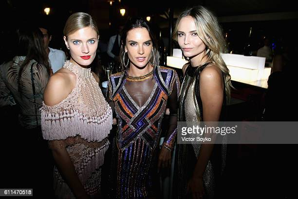 Constance Jablonski Alessandra Ambrosio and Natasha Poly attend the Balmain aftershow party as part of the Paris Fashion Week Womenswear...