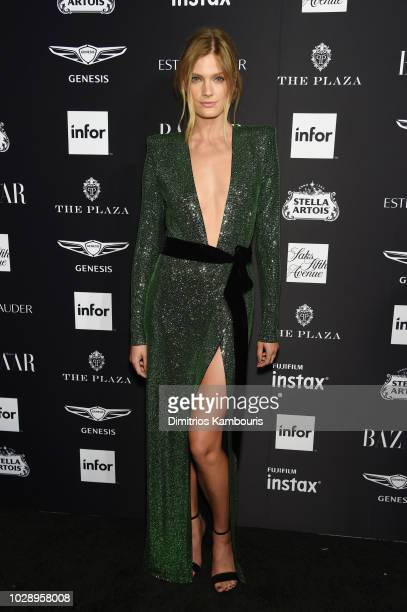Constance Jablonski attends as Harper's BAZAAR Celebrates ICONS By Carine Roitfeld at the Plaza Hotel on September 7 2018 in New York City
