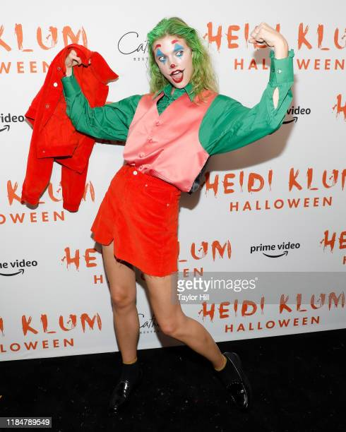 Constance Jablonski attends Heidi Klum's Annual Hallowe'en Party at Cathedrale on October 31 2019 in New York City
