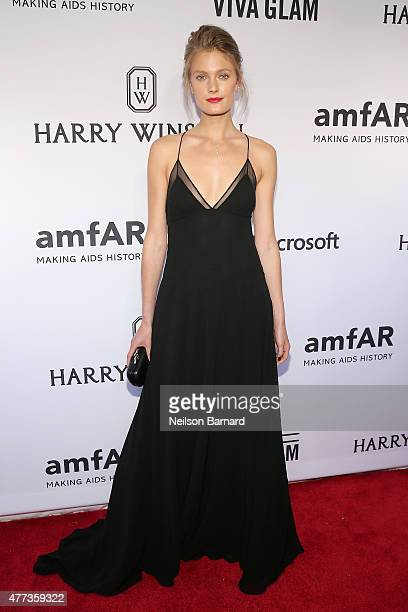 Constance Jablonski attends the 2015 amfAR Inspiration Gala New York at Spring Studios on June 16 2015 in New York City