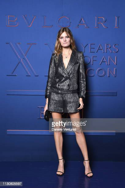 Constance Jablonski attends the Bvlgari BZERO1 XX Anniversary Global Launch Event at Auditorium Parco Della Musica on February 19 2019 in Rome Italy