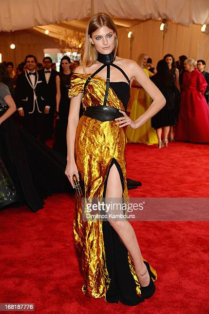 """Constance Jablonski attends the Costume Institute Gala for the """"PUNK: Chaos to Couture"""" exhibition at the Metropolitan Museum of Art on May 6, 2013..."""