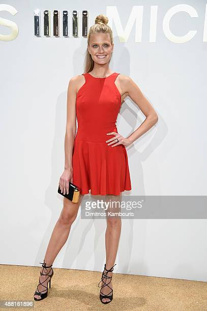 Constance Jablonski attends the new Gold Collection fragrance launch hosted by Michael Kors featuring Duran Duran at Top of The Standard Hotel on...