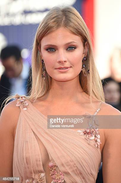 Constance Jablonski attends the Opening Ceremony and 'Birdman' premiere during the 71st Venice Film Festival at Palazzo Del Cinema on August 27 2014...