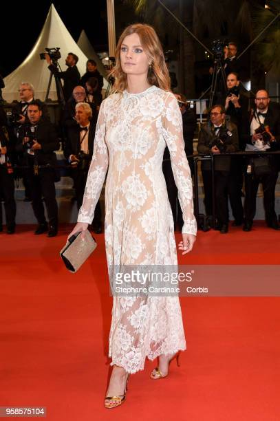 """Constance Jablonski attends the screening of """"The House That Jack Built"""" during the 71st annual Cannes Film Festival at Palais des Festivals on May..."""