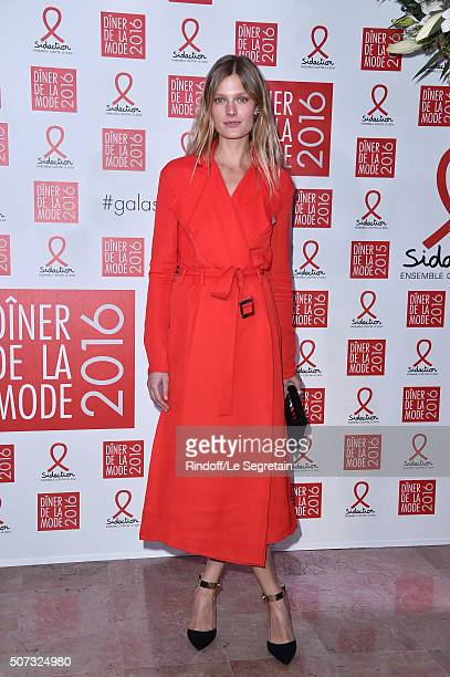 Constance Jablonski attends the Sidaction Gala Dinner 2016 as part of Paris Fashion Week on January 28 2016 in Paris France