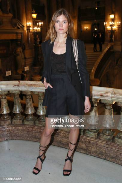 Constance Jablonski attends the Stella McCartney show as part of the Paris Fashion Week Womenswear Fall/Winter 2020/2021 on March 02 2020 in Paris...
