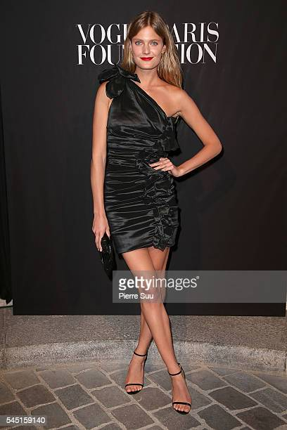 Constance Jablonski attends the Vogue Foundation Gala 2016 at Palais Galliera on July 5 2016 in Paris France