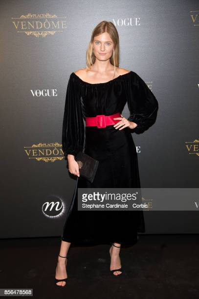 Constance Jablonski attends Vogue Party as part of the Paris Fashion Week Womenswear Spring/Summer 2018 at on October 1 2017 in Paris France