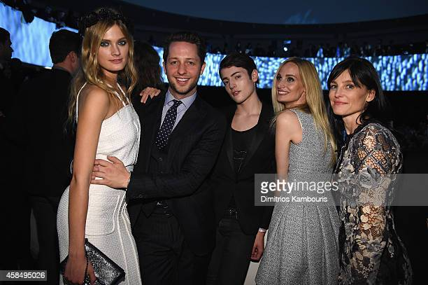 Constance Jablonski Derek Blasberb Harry Brant Lauren Santo Domingo and Tabitha Simmons attend the Guggenheim International Gala PreParty made...