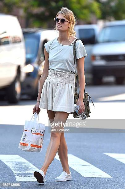 Constance Jablonski is seen in Soho on August 3 2016 in New York City
