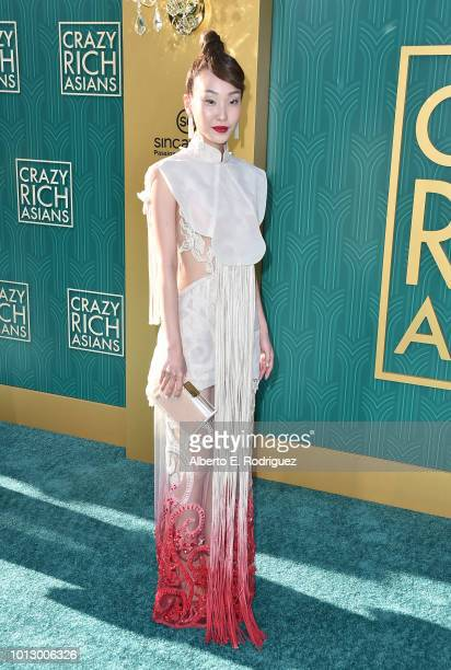 """Constance Lau attends the premiere of Warner Bros. Pictures' """"Crazy Rich Asiaans"""" at TCL Chinese Theatre IMAX on August 7, 2018 in Hollywood,..."""
