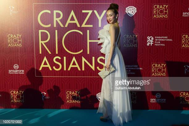 Constance Lau attends the Singapore premiere of 'Crazy Rich Asians' on August 21 2018 in Singapore