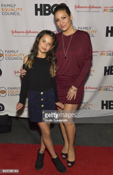 Constance Marie and daughter Luna Marie attend the Family Equality Council's annual Impact Awards at The Globe Theatre on March 17 2018 in Universal...