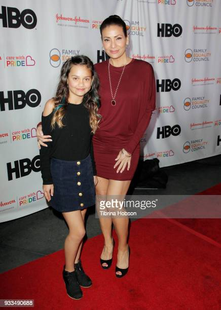 Constance Marie and her daughter attend the Family Equality Council's annual Impact Awards at The Globe Theatre on March 17 2018 in Universal City...