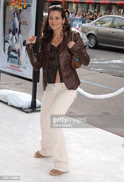 Constance Marie during World Premiere of Happy Feet Arrivals at Chinese Theater in Hollywood California United States