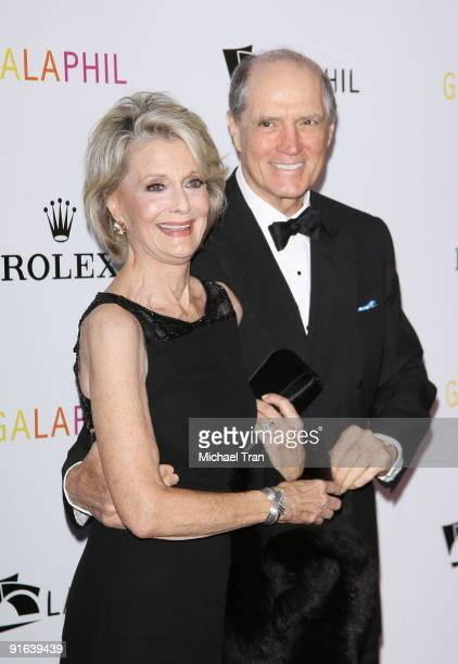 Constance Towers and husband John Gavin arrive to the Los Angeles Philharmonic celebrates Gustavo Dudamel as the new music director held at the Walt...