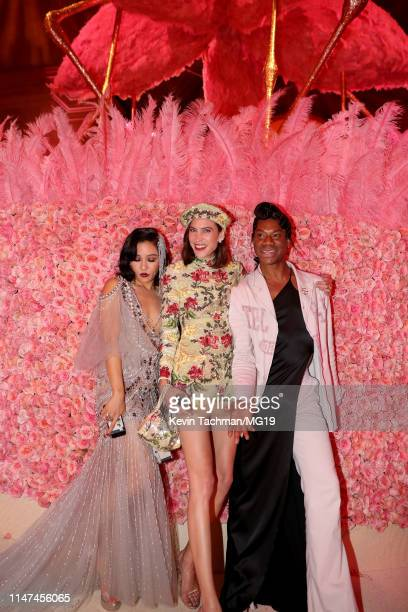 Constance Wu Alexa Chung and Telfar Clemens attend The 2019 Met Gala Celebrating Camp Notes on Fashion at Metropolitan Museum of Art on May 06 2019...