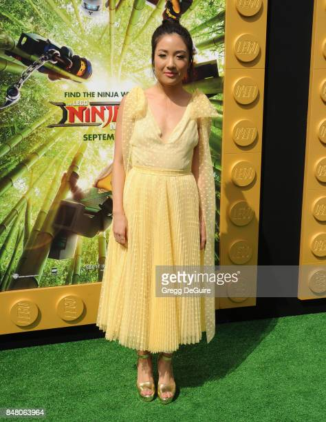 Constance Wu arrives at the premiere of Warner Bros Pictures' 'The LEGO Ninjago Movie' at Regency Village Theatre on September 16 2017 in Westwood...