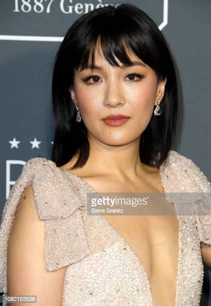 Constance Wu arrives at the The 24th Annual Critics' Choice Awards attends The 24th Annual Critics' Choice Awards at Barker Hangar on January 13 2019...