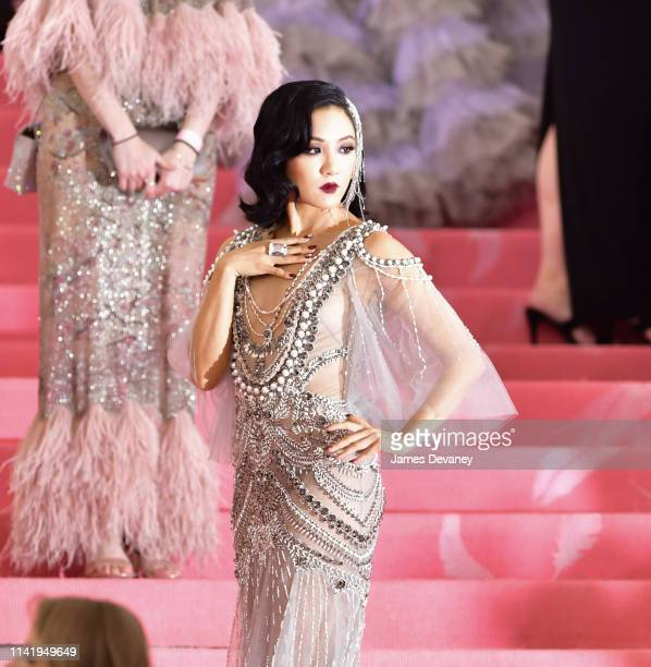 Constance Wu arrives to The 2019 Met Gala Celebrating Camp Notes on Fashion at Metropolitan Museum of Art on May 6 2019 in New York City