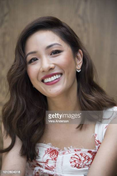 Constance Wu at the Crazy Rich Asians Press Conference at the Beverly Wilshire Hotel on August 5 2018 in Beverly Hills California