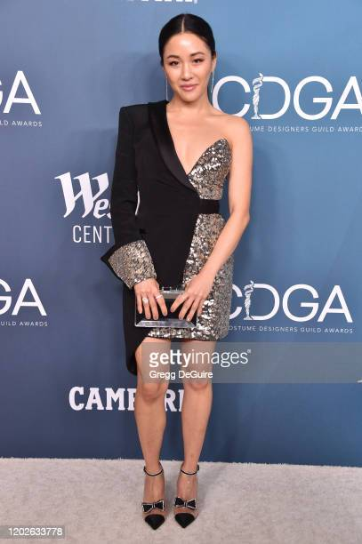 Constance Wu attends the 22nd CDGA at The Beverly Hilton Hotel on January 28 2020 in Beverly Hills California