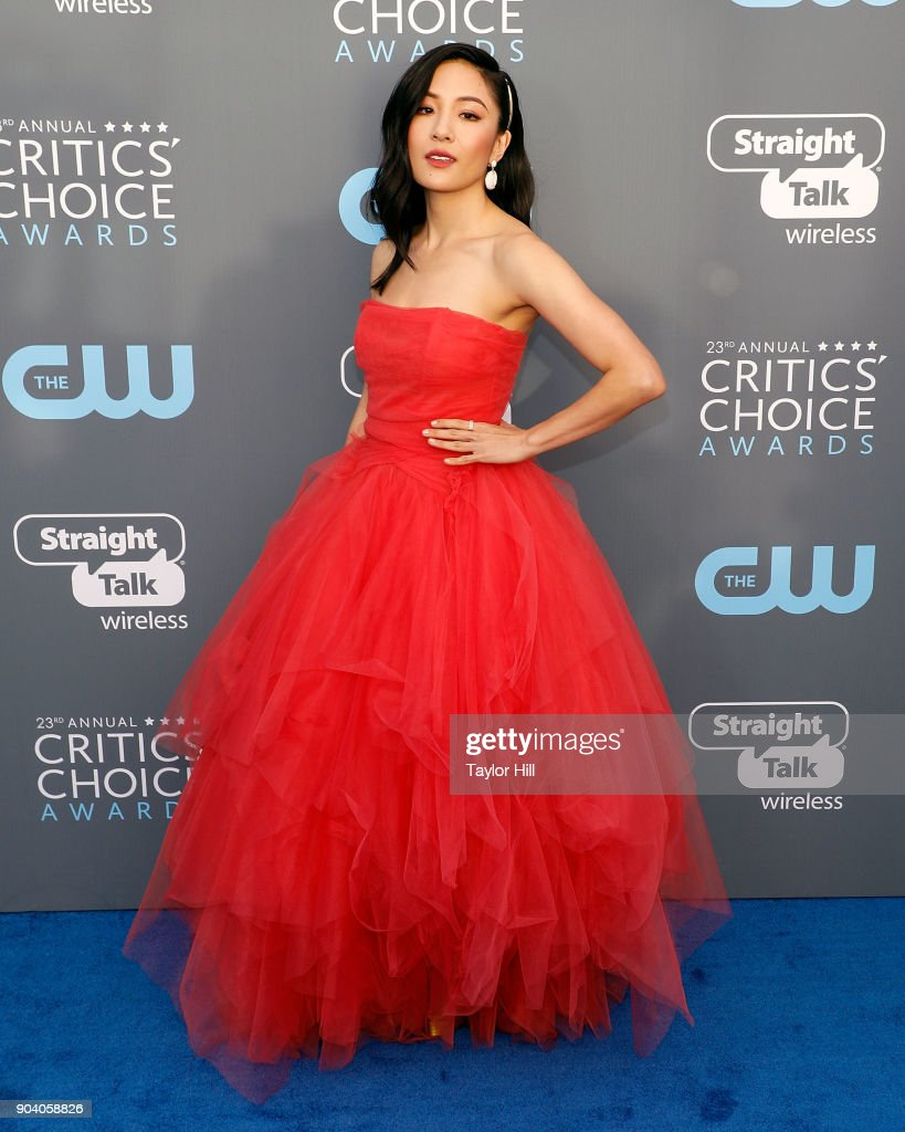 Constance Wu attends the 23rd Annual Critics' Choice Awards at Barker Hangar on January 11, 2018 in Santa Monica, California.