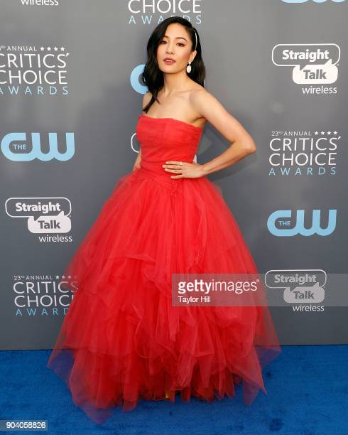Constance Wu attends the 23rd Annual Critics' Choice Awards at Barker Hangar on January 11 2018 in Santa Monica California