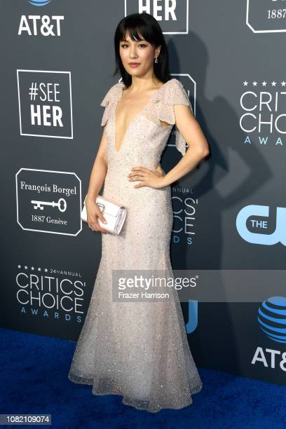 Constance Wu attends the 24th annual Critics' Choice Awards at Barker Hangar on January 13 2019 in Santa Monica California